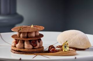 Chocolate and hazelnut gelato