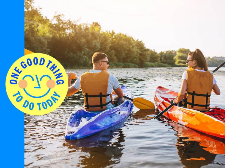 Paddle the afternoon away on a kayak trip on Greenwood Lake