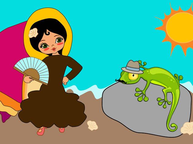 La caracola y el lagarto