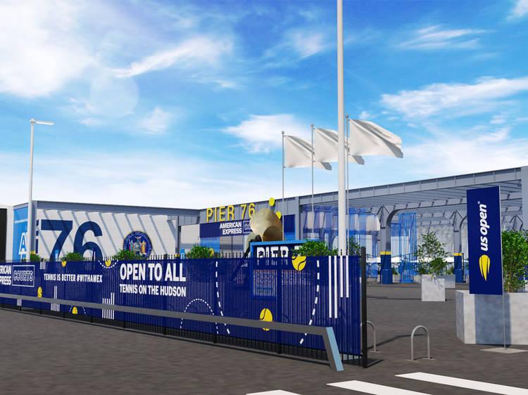 Book a pop-up tennis court at Pier 76