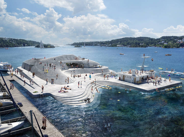 Thought your lido was cool? Take a look at this harbour pool in Norway