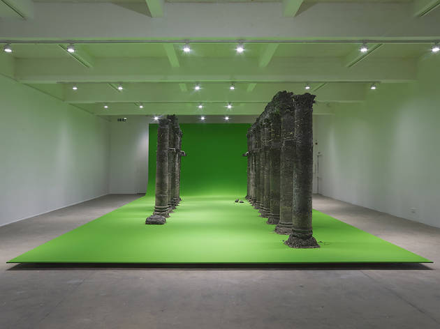 curtain call, variations on a folly (2021). Installation view, Chisenhale Gallery, London, 2021. Commissioned and produced by Chisenhale Gallery, London. Courtesy of the artist. Photo: Andy Keate