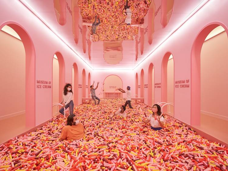 Have a sweet treat at Museum of Ice Cream