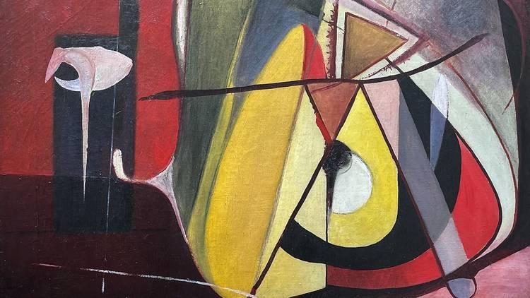 """""""Voltar ao Princípio - Construção"""", Almada Negreiros, óleo sobre tela, 1946"""