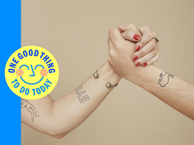 This new tattoo won't stick around forever