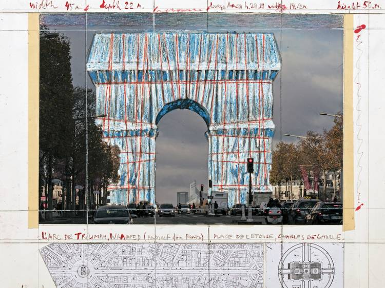 Paris's Arc de Triomphe is being wrapped in fabric for an art installation