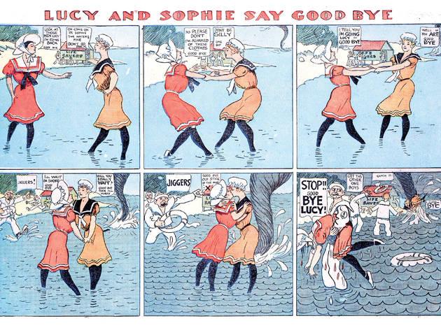 Lucy & Sophie Say Goodbye 1905 Chicago Tribune comic strip