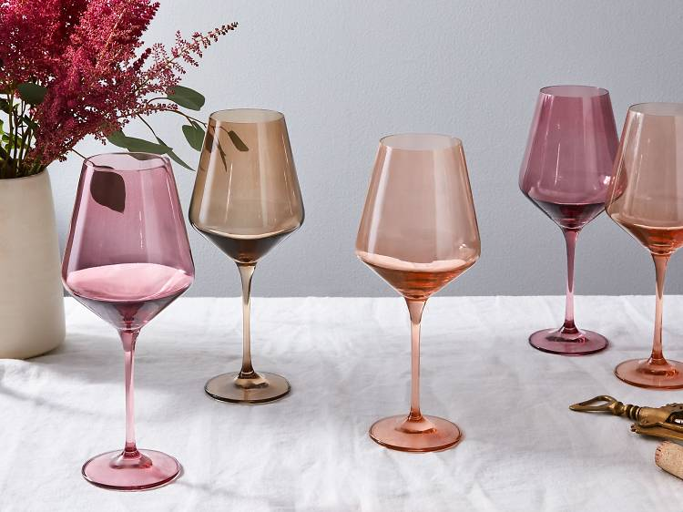 Hand-blown wine glasses, Food52 ($160–$175 for 6)