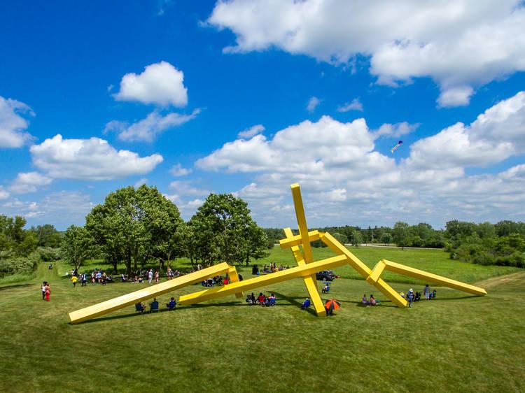 Take a walk around a suburban sculpture garden
