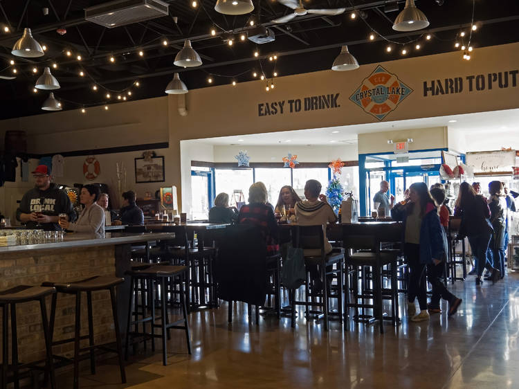 Sip craft beer from a beloved suburban brewery