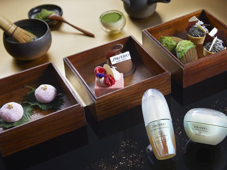 Mandarin Oriental x Shiseido's Future Solution Legendary Enmei afternoon tea