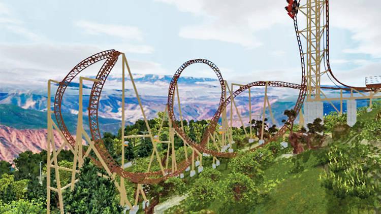 Defiance rollercoaster, Glenwood Springs, Colorado