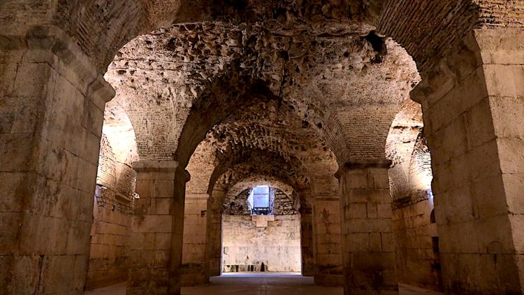 split, diocletian's, basement, palace