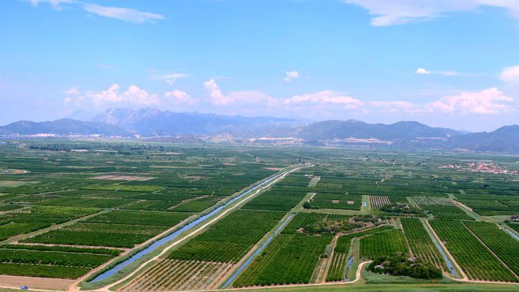 neretva, river, valley