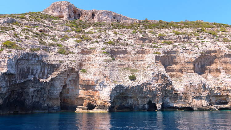 vis, issa, island, sea, coast, rocky, cave, shore, bay