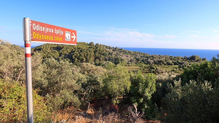 Odysseus, ancient, greek mythology, cave, mljet, island, national, park