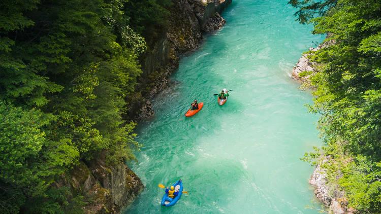 Kayaking at Futaleufu River, Chile
