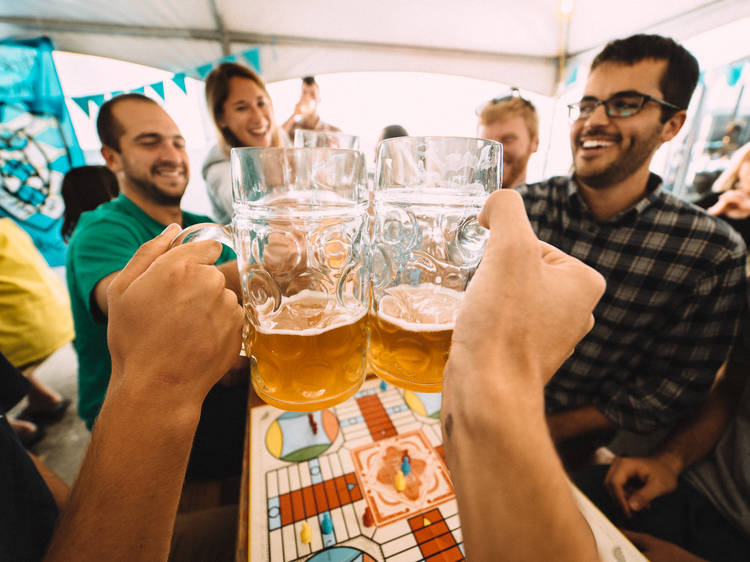 Celebrate Oktoberfest with a stein of beer