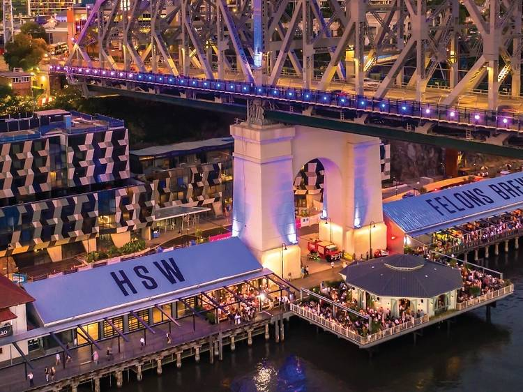 Eat and drink your way around Howard Smith Wharves