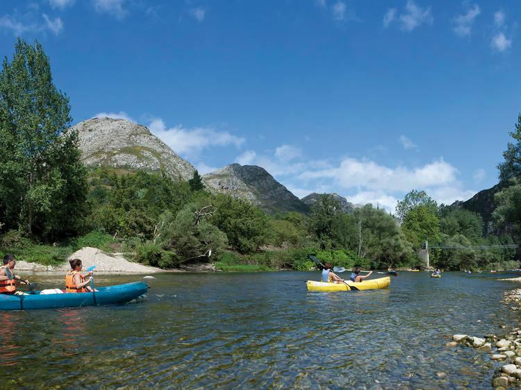 En canoa por el Sella