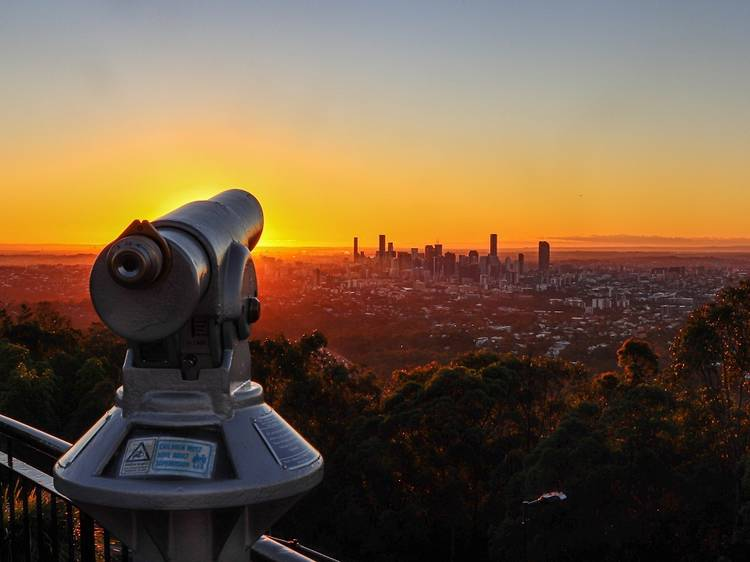 Watch the sunrise from Mt Coot-tha