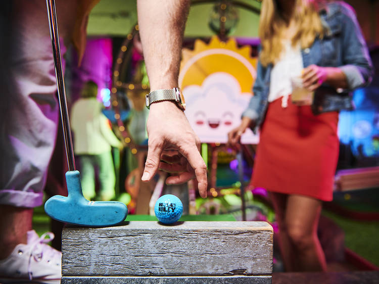 Grab a Holey Moley gift card and get ready to tee off for a round of post-lockdown mini golf