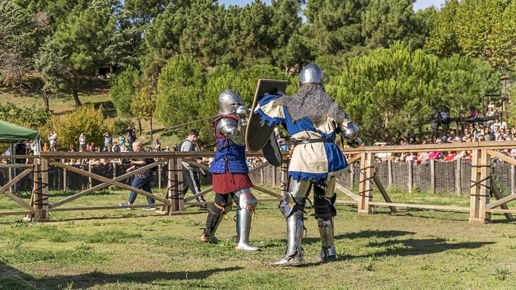 Combate medieval Manzanares el Real.