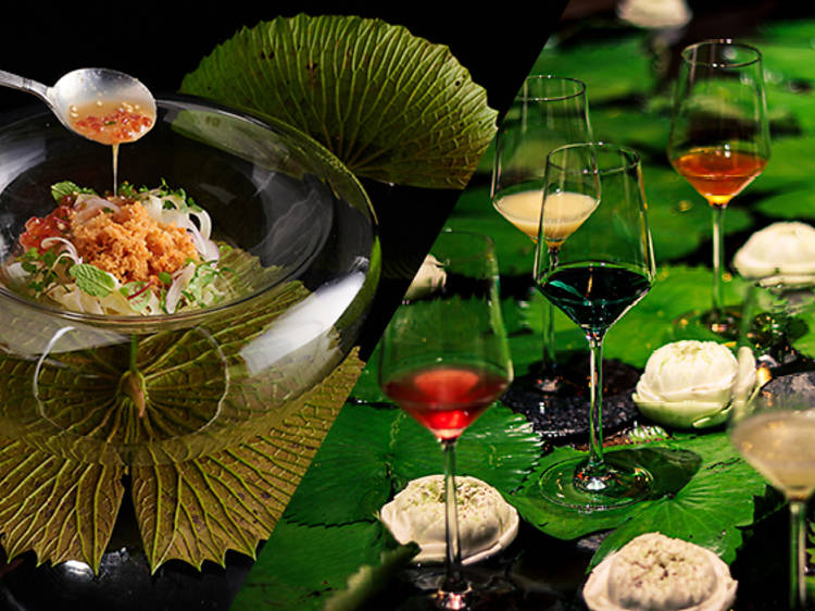 Sra Bua by Kiin Kiin reopens with a new juice-pairing Thai course menu