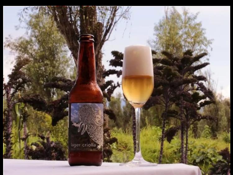 Cena con cerveza artesanal: Lager Criolla de Monstruo de Agua