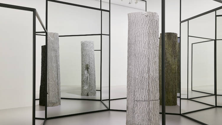 Installation view of Alicja Kwade's work WeltenLinie 2020 on display in NGV Triennial 2020 from 19 December 2020 – 18 April 2021 at NGV International