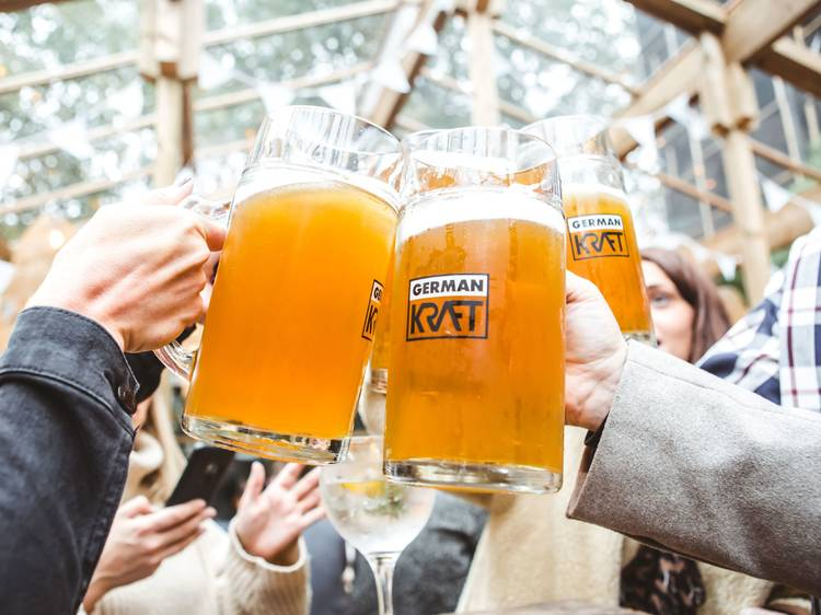 Raise a stein at one of the capital's raucous Oktoberfest celebrations