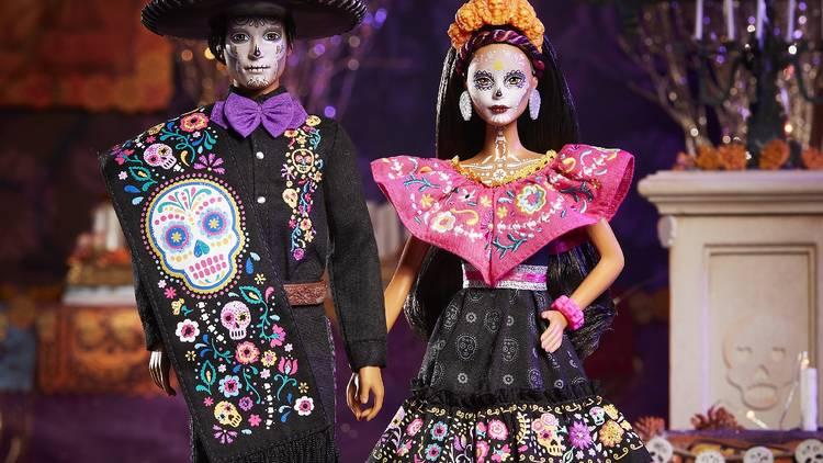 Barbie y Ken Día de Muertos 2021