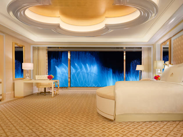 Wynn Palace Fountain Salon Suite Bedroom by Barbara Kraft