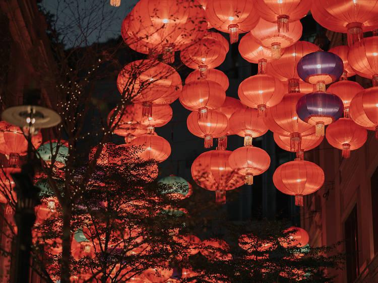 利東街「彩燈迎月」