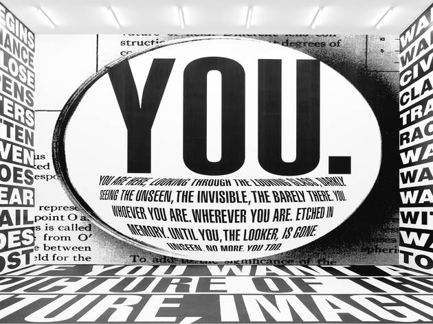 Barbara Kruger. Untitled (Forever), 2017. Installation view, Sprüth Magers, Berlin, 2017–18. Amorepacific Museum of Art (APMA), Seoul.