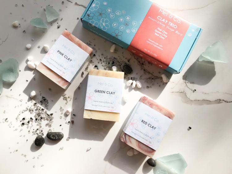 Clay Trio Natural Soap Gift Box, $20
