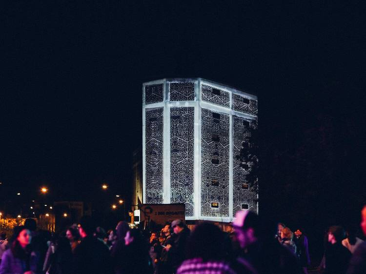 Spooky projections at Parc Laurier