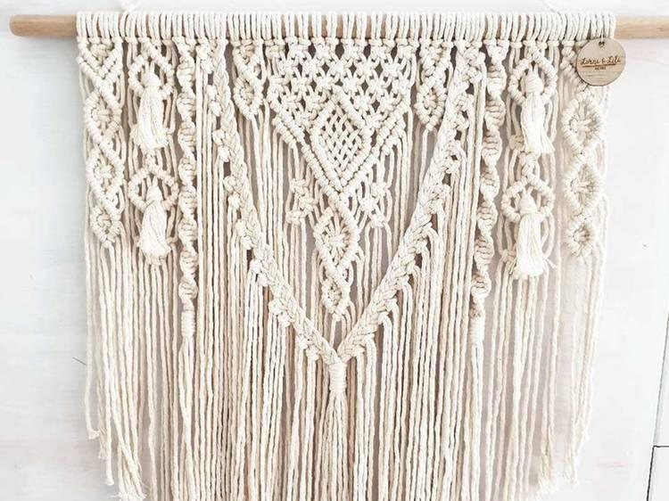 'Lila' Macrame Wall Hanger, $85