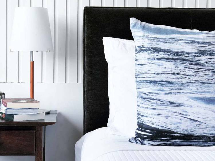 Linen Cushion Cover in 'Dusk', $130