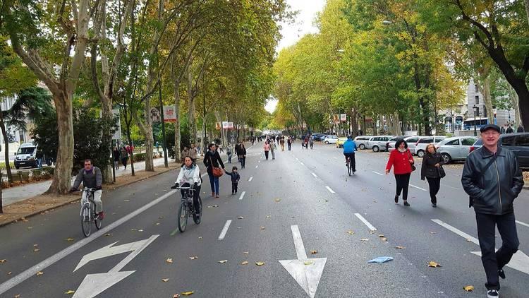 calle peatonal, paseo del prado peatonal