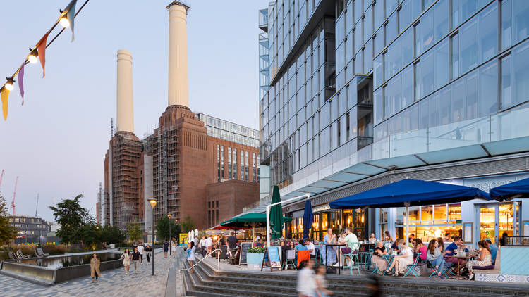 The outside of Battersea power station