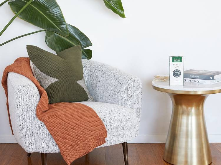 Sit back and enjoy that brilliant brew in a comfy modern nook