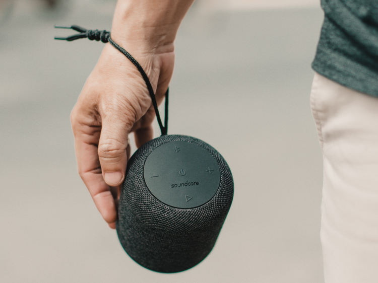 A portable speaker