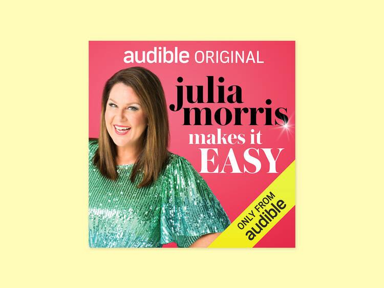 Julia Morris reading 'Julia Morris Makes it Easy'