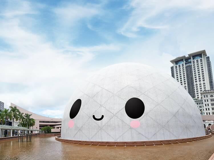 西九文化區藝術公園「FriendsWithYou」大型藝術裝置