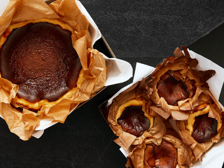 Order mini Basque cheesecakes from this online-only bakery