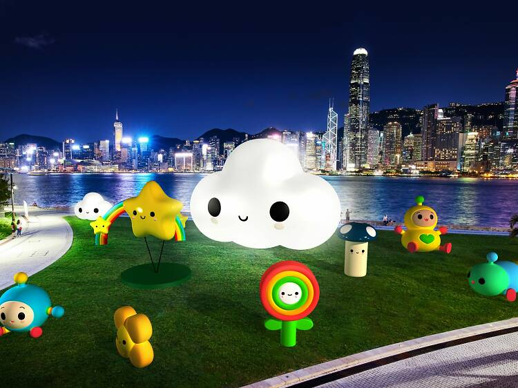 FriendsWithYou art installations at West Kowloon Cultural District