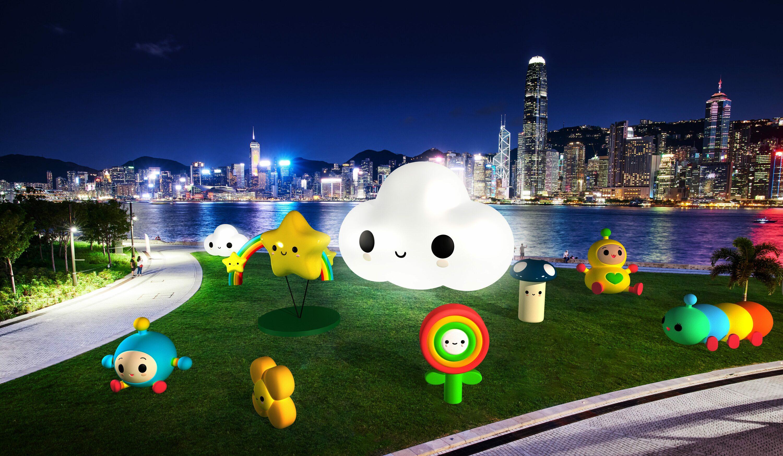 「FriendsWithYou」大型藝術裝置今月底登陸西九文化區 香港太空館化身「巨型菠蘿包的微笑」
