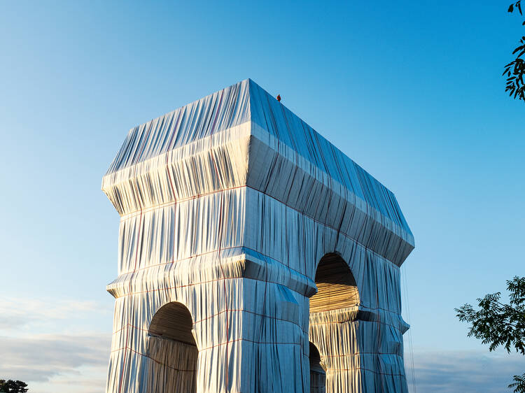 Paris's Arc de Triomphe has been wrapped in fabric for an art installation