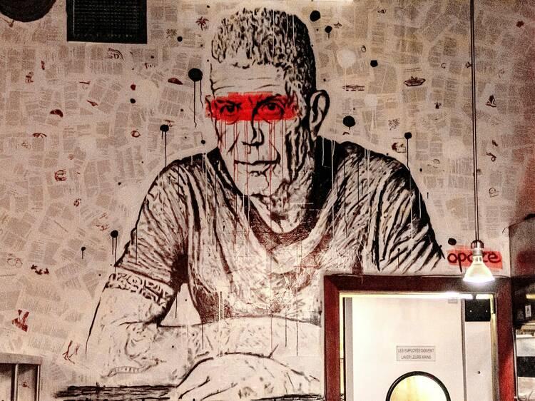 Le vandalisme selon les règles de l'art au cœur de ce nouveau restaurant